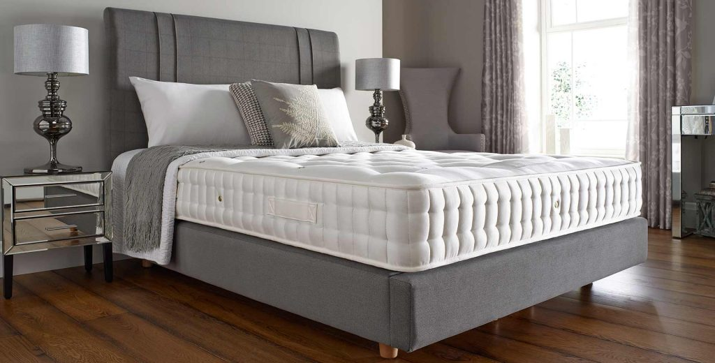 luxury bed with mattress